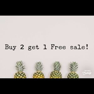 Buy any 2 item gets the 3 one for FREE!